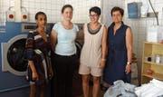 Das Team der Wäscheklammer: Saba Tesfahanis, Karin Zuberbühler, Sandra Tenchio, Judit Czuczi. (Bild: PD)