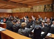 Ein klares Verdikt: Nach zwei Stunden stimmt der Innerrhoder Grosse Rat der letztjährigen Staatsrechnung zu. (Bild: Roger Fuchs)