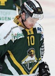Der Kanadier Cam Braes war der einzige Torschütze auf Seiten des HC Thurgau. (Bild: Mario Gaccioli)