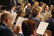 Der Musikverein Romanshorn gibt in der Salmsacher Bergliturnhalle ein Unterhaltungskonzert. (Bild: Markus Bösch)