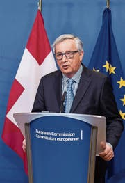 EU-Kommissionspräsident Juncker. (Bild: G. Vanden Wijngaert/AP)