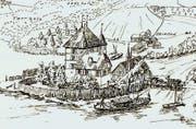 Eine Visualisierung zeigt, wie die Luxburg als Neubau ausgesehen hat. (Bild: pd)