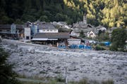 In Bondo ereignete sich der grösste Bergsturz der letzten Jahrzehnte im Kanton Graubünden. (Bild: KEYSTONE)