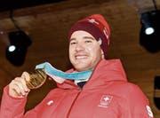 15-km-Olympiasieger Dario Cologna. (Bild: Jean-Christophe Bott/KEY)
