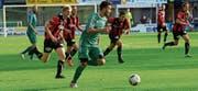 Der Konkurrenz früh davoneilen: Ein guter Rückrundenstart des FC Buchs kann im Kampf um den Ligaerhalt wegweisend sein. (Bild: Robert Kucera)