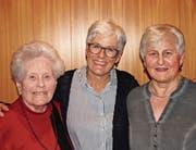 Maria Vattioni, Heidi Schwarzkopf und Marti Nüesch (von links). (Bild:PD)