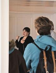 Die Architektin Dorothee Bachmann war für die Bauleitung zuständig. (Bild: cal)