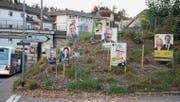 Kampf um die Gunst der Bevölkerung: Wahlplakate im Kanton Aargau im Vorfeld der Wahlen vom Sonntag. (Bild: Aladin Klieber/KEY)