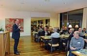 Regierungsrat Matthias Weishaupt gehörte zu den Festrednern im Haus Vorderdorf. (Bild: Karin Erni)
