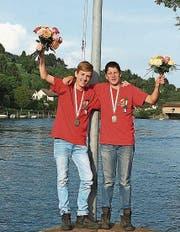 David Oberholzer und Cedric Suter holten sich die Silbermedaille. (Bild: PD)