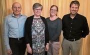 Der CVP-Vorstand (von links): Markus Hardegger, Barbara Dürr, Sandra Kamm Jehli, Michael Kramer. (Bild: PD)