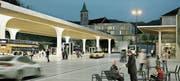 «Eines der wichtigesten Projekte»: Gemeinde und Kanton setzten grosse Hoffnungen in die Aufwertung des Herisauer Bahnhofsareal. (Bild: PD)