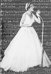 Lugano, 1956: Lys Assia bei ihrem Auftritt am Eurovision Contest. (Bild: Jacques Munch/AFP)