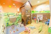 Im öffentlichen Teil der Jufa-Hotels wird ein Wellness- und Wassererlebnisbereich mit Spielbereich für die ganze Familie angeboten. Hier der Kinder-Wasser-Spielbereich im Jufa Hotel Annaberg. (Bild: PD)