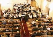 Mit Alphorn: der Musikverein Tägerwilen. (Bild: Manuela Olgiati)