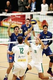 Amriswil verschafft sich mit einem Sieg 3:0-Sieg gegen Nikosia eine komfortable Ausgangslage. (Bild: MARIO GACCIOLI)