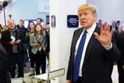 Donald Trump traf gestern in Davos ein (Bild: Laurent Gillieron/KEY)