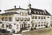 Im «Landhaus» Wil fand die formelle Gründung der SP Wil statt. (Bild: ETH Bildarchiv)