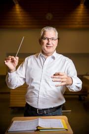 Christian Schlegel, Dirigent der Bürgermusik Wildhaus. (Bild: Mareycke Frehner)