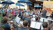 Gastverein: Die Musikgesellschaft Brassband Hauptwil während ihres Auftritts. (Bild: Peter Spirig)