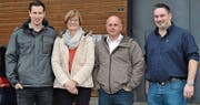 Die Referenten beim Kurs «Planung der Hofübergabe»: Peter Künzler, Seline Heim, Peter Weiss und Reto Meile (von links). Bild: Adi Lippuner