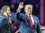 US-Präsident Donald Trump will zum WEF reisen. Das Sicherheitsdispositiv muss darum aber nicht komplett neu erstellt werden. (Bild: EPA)