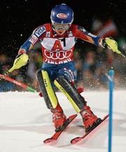 Jung und schnell: Mikaela Shiffrin deklassiert die Konkurrenz auch im Slalom von Flachau. (Bild: Giovanni Auletta/AP)