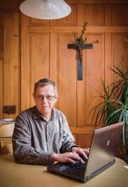 «Wir leben in einer Überwachungswelt»: Pfarrer Heinz Angehrn. (Bild: Urs Bucher)