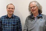 Neumitglied Jürg Stauffer (links) und Dirigent Peter Diem. (Bild: pd)