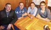 Leiterteam Jugi Knaben: Robin Riedweg, Chris Schrepfer, Kevin Schrepfer, Michael Loser. (Bild: PD)