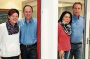 Führen das Unternehmen gemeinsam in eine gute Zukunft: Luzia und Robert Fuchs, Marlies und Kurt Gautschi. (Bild: Christof Lampart)