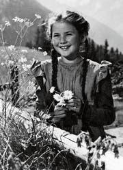 Elsbeth Sigmund spielt in der bekannten «Heidi»-Verfilmung die Hauptrolle. (Bild: Alamy)