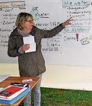 Gemeinderätin Beatrice Weiler erläutert die Reservoir-Vorlage. (Bild: Margrith Widmer)