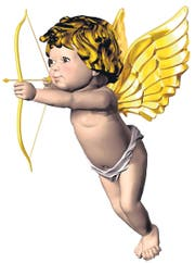 Eros Cupid with bow and arrow (Bild: diez-artwork (54602469))