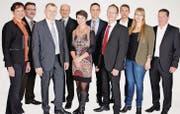 Die Kandidatinnen und Kandidaten für die Wahl in den Kantonsrat der CVP Region Rorschach. (Bild: zVg)