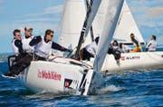 Der Regattaclub Bodensee liegt vorne und gibt die Führung bis zum Schluss nicht mehr ab. (Bild: Claudia Somm)