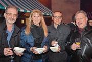 Daniel und Karin Zäch, Marcel Schneider, Roland P. Poschung. (Bilder: Philipp Haag)