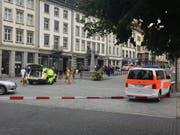 """Eine der schlimmsten Bluttaten im vergangenen Jahr auf St.Galler Kantonsgebiet ereignete sich beim """"Starbucks"""" in der Stadt St.Gallen. (Bild: Elisabeth Reisp)"""