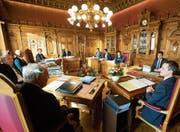 Die Frauen sind gemessen am Bevölkerungsanteil in der Landesregierung untervertreten. (Bild: Peter Klaunzer/Keystone (Bern, 1. November 2017))