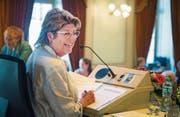 Schon an ihrer zweiten Sitzung als Grossratspräsidentin ist Heidi Grau voll gefordert. (Bild: Andrea Stalder)