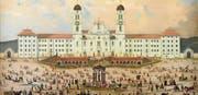 Das Kloster Einsiedeln um 1840/50, Öl auf Holz. (Bild: Schweizerisches Nationalmuseum)