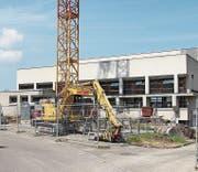 Bauarbeiten an der Turnhalle Horn. (Bild: Christina Vaccaro)
