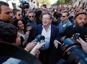 Jean-Luc Mélenchon teilt nicht nur gerne gegen rechts, sondern auch gegen links aus. (Bild: Guillaume Horcajuelo/EPA (Marseille, 12. September 2017))