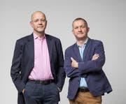 Organisationsberater Claudius Fischli und Simon Enzler wagen ein neues Projekt. (Bild: Daniel Ammann (Daniel Ammann))