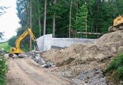 Vor einem Jahr wurde mit dem Bau des Reservoirs begonnen. (Bild: PD)