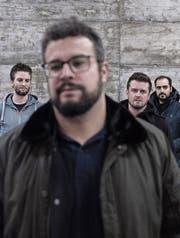 Baze (vorne) mit neuer Band: Fabian M. Mueller, Fabian Bürgi und Toni Schiavano (von links). (Bild: PD)