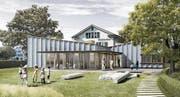 So soll gemäss einer Visualisierung der Chrüterhus-Erweiterungsbau aussehen. (Bild: pd)