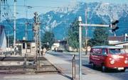 Der Niveauübergang beim Grenzbahnhof Buchs 1967. (Bilder: Archiv Hansruedi Rohrer)