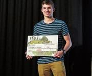 Erhielt einen Anerkennungspreis: Samuel Sätteli aus Oberschan mit einem mobilen Whirlpool. (Bild: Julia Kaufmann)