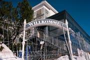 Strengste Sicherheitsmassnahmen: Das Hotel Steigenberger Grandhotel Belvédère in Davos. (Bild: CHRISTIAN BEUTLER (KEYSTONE))